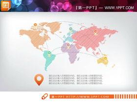 两张彩色手绘PPT地图