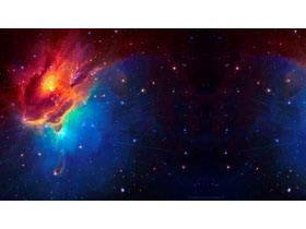 三张炫酷星空星球PPT背景图片