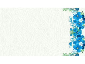 四���{色�n范花卉PPT背景�D片
