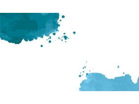 蓝色墨迹PPT背景图片