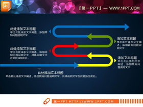 S状PPT流程图