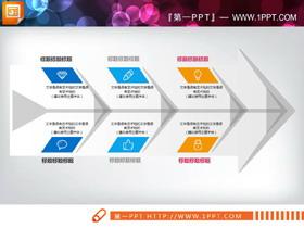 三张精致实用的PPT鱼骨图
