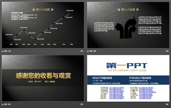简洁大气黑金商业计划书PPT模板