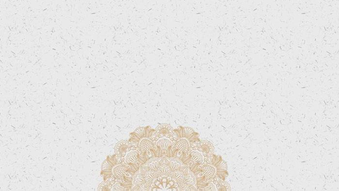 精致古典花纹图案PPT背景