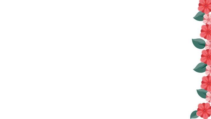 6张清新韩范卡通PPT边框背景图片