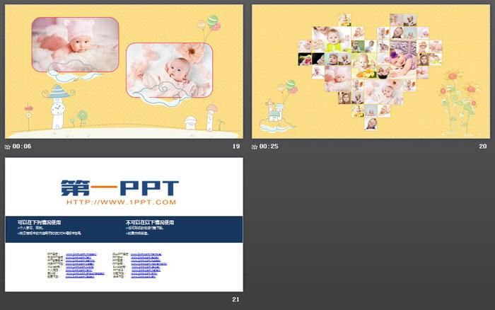 可�����生日相��PPT模板