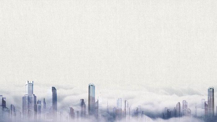 雅致城市建筑PPT背景�D片