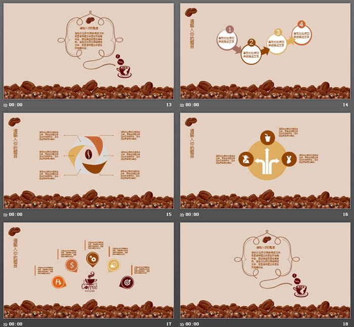 咖啡PPT主题模板