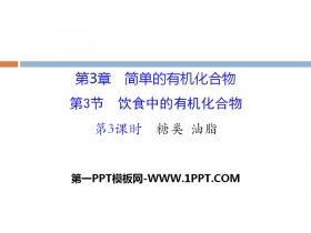 《饮食中的有机化合物》简单的有机化合物PPT(第3课时糖类油脂)