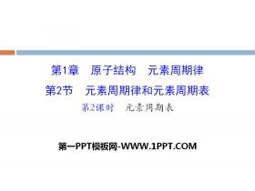 《元素周期律和元素周期表》原子结构元素周期律PPT(第2课时元素周期表)