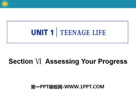 《Teenage Life》Assessing Your Progress PPT�n件
