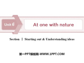 《At one with nature》Section ⅠPPT下�d