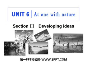 《At one with nature》Section ⅢPPT教�W�n件