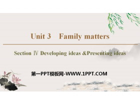 《Family matters》Section ⅣPPT教�W�n件