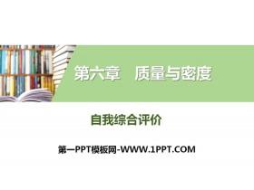 《自我综合评价》质量与密度PPT