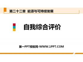 《自我综合评价》能源与可持续发展PPT