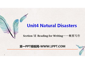 《Natural Disasters》Reading for Writing PPT