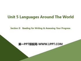 《Languages Around The World》Section D PPT