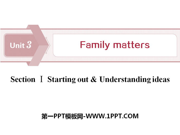 《Family matters》Section ⅠPPT下�d