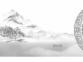 九张水墨古典中国风PPT背景图片