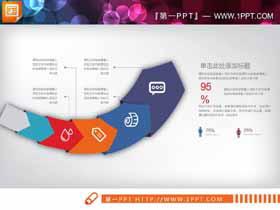 21张彩色动态扁平化PPT图表集合