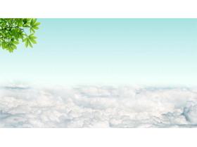 天空白云�G�~PPT背景�D片