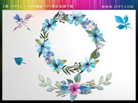 �n范花卉花�hPPT素材