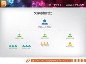 简洁人物图标PPT组织结构图