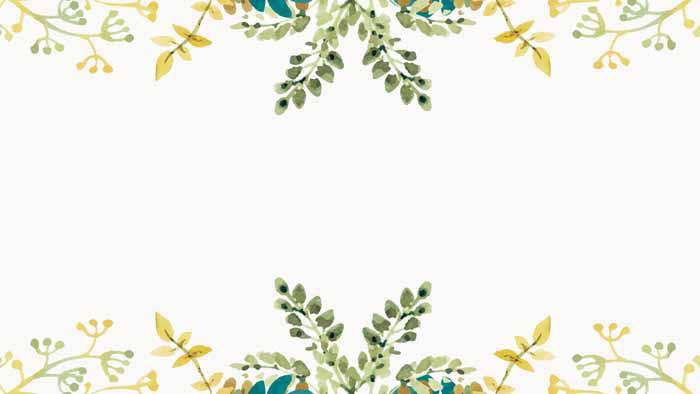 淡雅水彩艺术花卉PPT背景图片