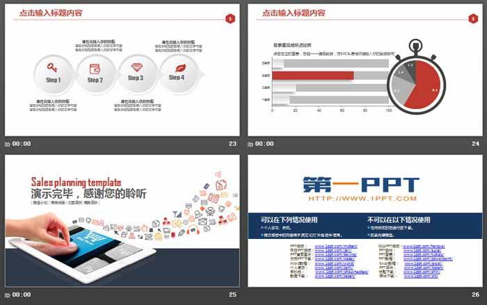 销售工作总结PPT模板