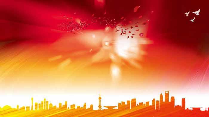 三张红色喜庆节日庆典PPT背景图片