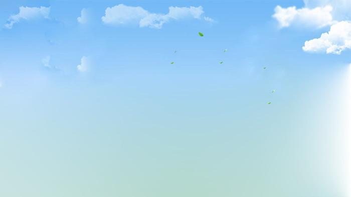 蓝天白云飞屋气球ppt背景图片