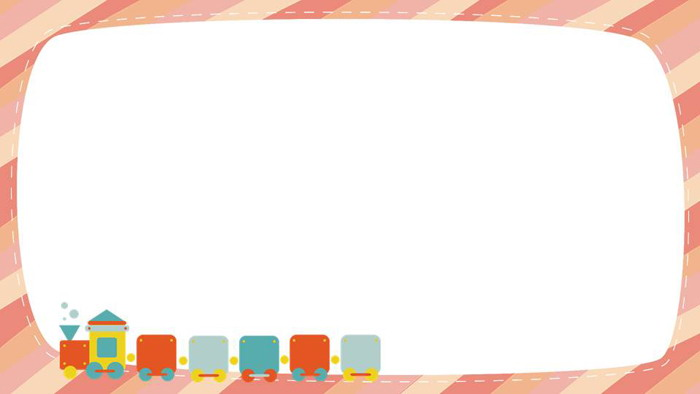 5张橙色卡通线条PPT边框素材