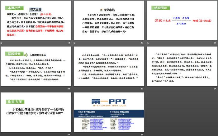 《小毛虫》PPT(第二课时)