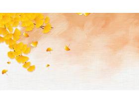 ���金色�y杏�~PPT背景�D片