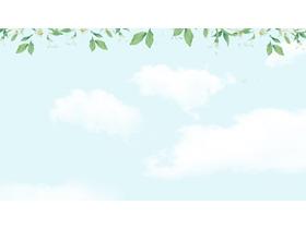 绿色清新植物花卉边框必发88背景图片