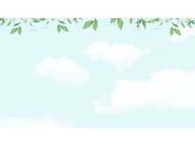 �G色清新植物花卉�框PPT背景�D片