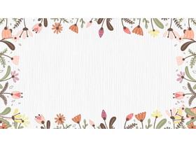 可�劭ㄍ�花卉�框PPT背景�D片