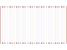 蓝橙线条相间的PPT边框背景图片