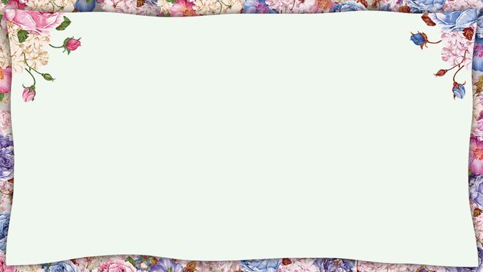 ���唯美花卉PPT�框背景�D片