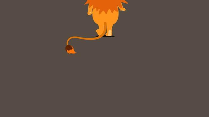 可爱卡通小狮子必发88背景图片