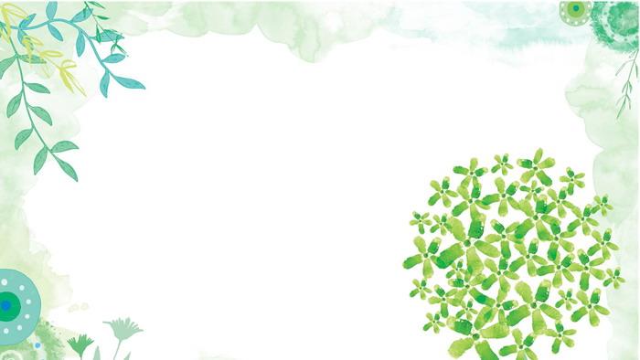 绿色清新水彩手绘叶子必发88背景图片