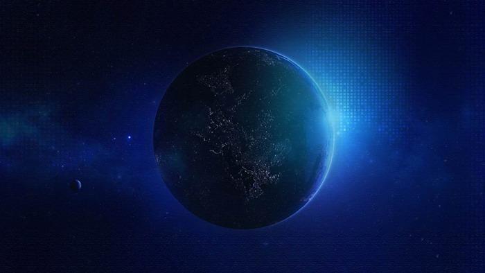 三张蓝色星空星球必发88背景图片