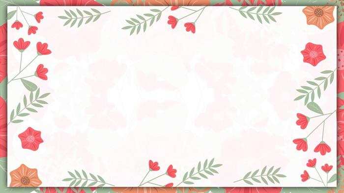 清新�n范花卉PPT�框背景�D片