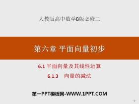 《平面向量及其线性运算》平面向量初步必发88(向量的减法)
