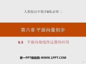 《平面向量线性运算的应用》平面向量初步PPT