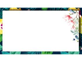 水彩花卉PPT�框背景�D片