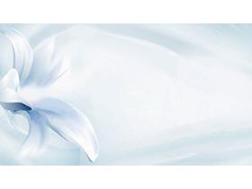 蓝色淡雅花卉必发88背景图片