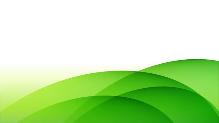 绿色简洁渐变曲线PPT背景图片