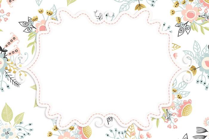 卡通花卉PPT�框背景�D片